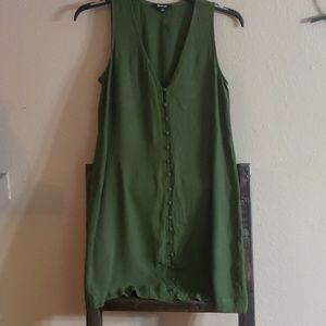 Madewell Army Green button down dress Small